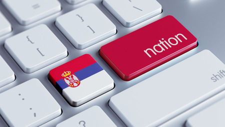 Serbia High Resolution Nation Concept Stock Photo