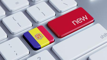 renewed: Andorra High Resolution New Concept Stock Photo