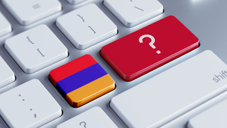 Armenia High Resolution Question Mark Concept