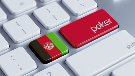wining: Afghanistan  High Resolution Poker Concept Stock Photo