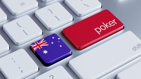 roulette online: Australia High Resolution Poker Concept