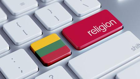 lithuania: Lithuania High Resolution Religion Concept