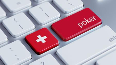 roulette online: Switzerland High Resolution Poker Concept