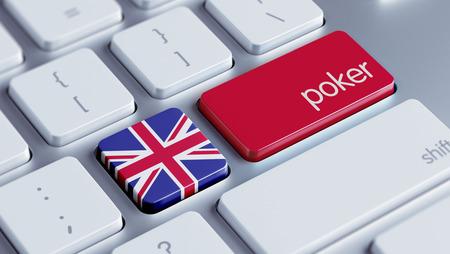 roulette online: United Kingdom High Resolution Poker Concept
