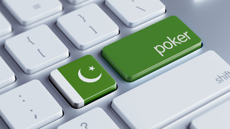 wining: Pakistan High Resolution Poker Concept Stock Photo
