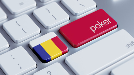wining: Romania High Resolution Poker Concept