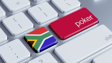 wining: South Africa High Resolution Poker Concept Stock Photo