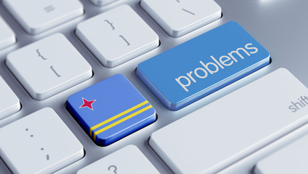 rectify: Aruba High Resolution Problems Concept Stock Photo