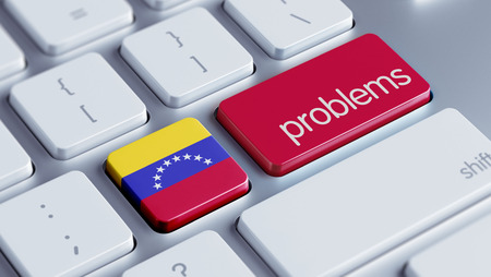 Venezuela High Resolution Problems Concept photo