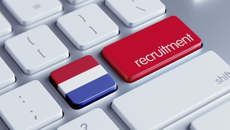 contracting: Netherlands High Resolution Recruitment Concept Stock Photo