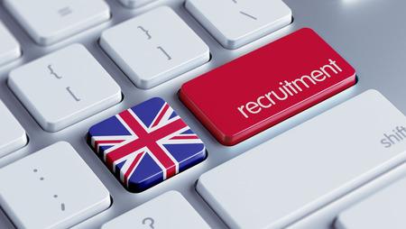Verenigd Koninkrijk hoge resolutie Recruitment Concept Stockfoto