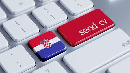 cv: Croazia Alta Risoluzione Inviare CV Concetto Archivio Fotografico
