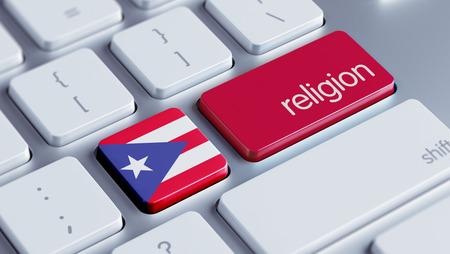 worshipper: Puerto Rico High Resolution Religion Concept Stock Photo