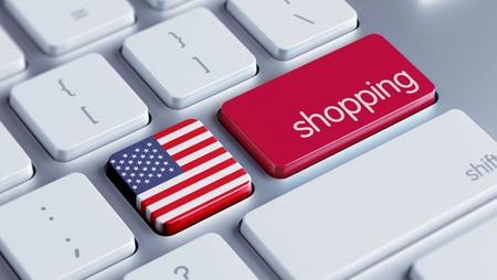 Het Hoge Resolutie van Verenigde Staten het Winkelen Concept Stockfoto - 28823776