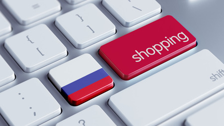 Russia High Resolution Shopping Concept photo