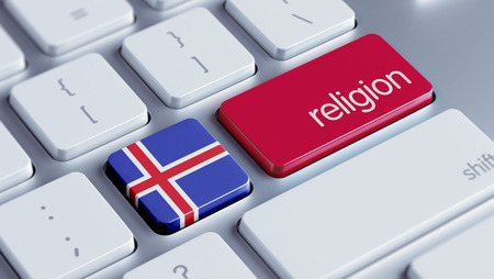 worshipper: Iceland High Resolution Religion Concept Stock Photo