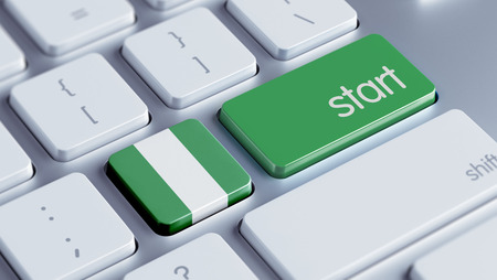 Nigeria  High Resolution Start Concept Stock Photo
