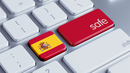 safely: Spain High Resolution Safe Concept Stock Photo