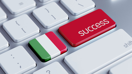 success concept: Italia Alta Risoluzione Success Concept