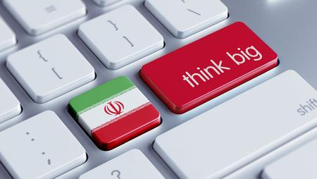 think big: Iran High Resolution Think Big Concept Stock Photo