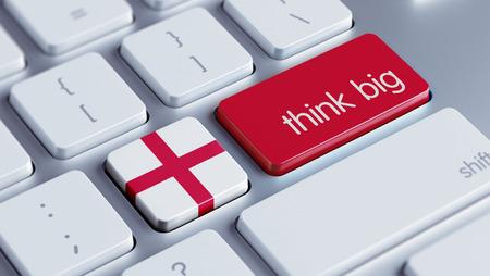 think big: England High Resolution Think Big Concept