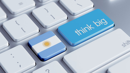 Argentina High Resolution Think Big Concept photo