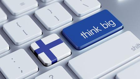 think big: Finland High Resolution Think Big Concept