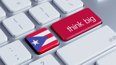 Puerto Rico High Resolution Think Big Concept photo