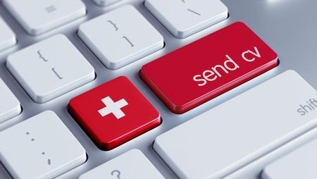 Switzerland High Resolution Send CV Concept photo