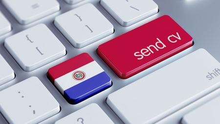 Paraguay High Resolution Send CV Concept photo