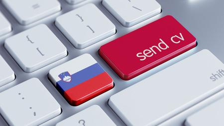 Slovenia High Resolution Send CV Concept photo