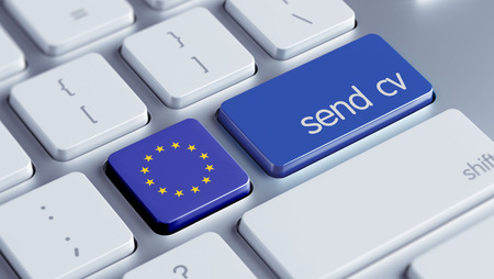 Europese Unie met hoge resolutie Stuur CV Concept