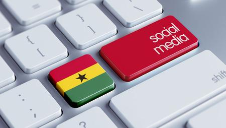 Ghana High Resolution Social Media Concept photo