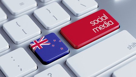 new zealand word: New Zealand High Resolution Social Media Concept