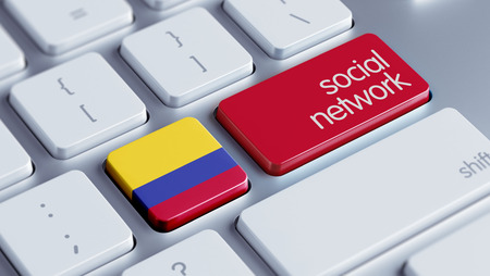 Colombia High Resolution Social Network Concept photo
