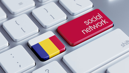 Romania High Resolution Social Network Concept photo