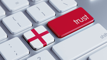 confianza concepto: Inglaterra Alta Resolution Trust Concept