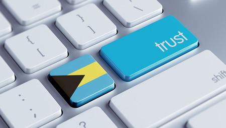 confianza concepto: Bahamas alta Resolution Trust Concept