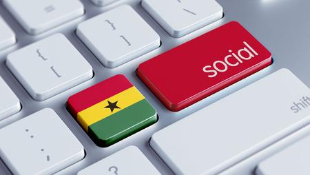 african solidarity: Ghana High Resolution Social Concept
