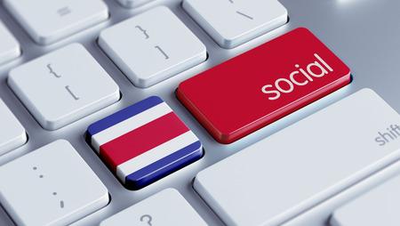 costa rican flag: Costa Rica  High Resolution Social Concept