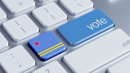 Aruba High Resolution Vote Concept Stock Photo