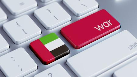 tussle: United Arab Emirates  High Resolution War Concept