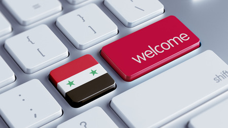 appreciated: Syria High Resolution Welcome Concept Stock Photo