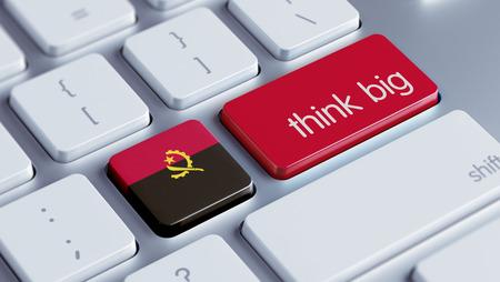think big: Angola High Resolution Think Big Concept Stock Photo