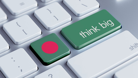 bangladesh 3d: Bangladesh High Resolution Think Big Concept