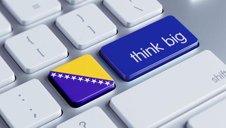 herzegovina: Bosnia and Herzegovina  High Resolution Think Big Concept