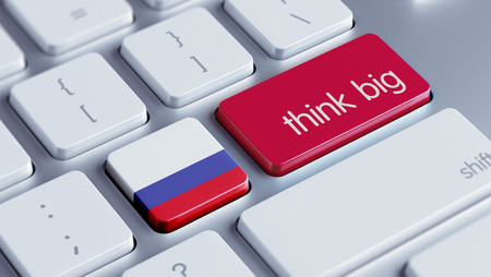think big: Russia High Resolution Think Big Concept Stock Photo