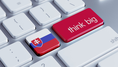 Slovakia High Resolution Think Big Concept photo
