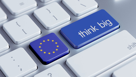European Union High Resolution Think Big Concept photo