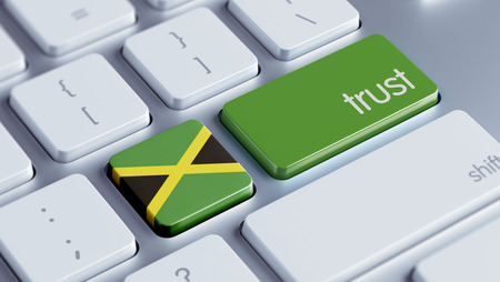 confianza concepto: Jamaica High Resolution Trust Concept Foto de archivo